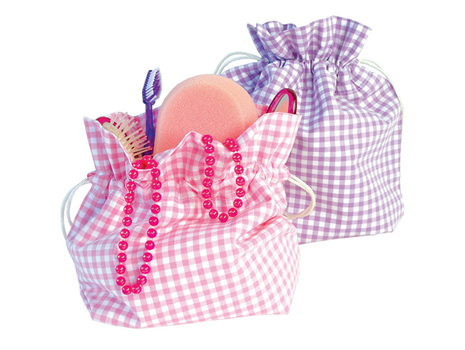 Gingham (Pink/Lilac)- tessuti, bedlinen by mail